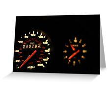 Morgan Freeman's 993 TT Porsche Ticker  Greeting Card