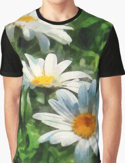 Gardens - Three White Daisies Graphic T-Shirt