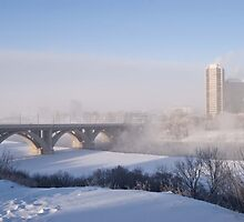 The Broadway bridge, Saskatoon,SK, Canada by Halobrianna