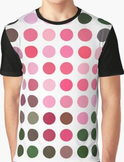 Pink Roses in Anzures 2 Dots Graphic T-Shirt