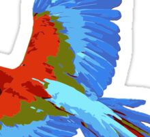 Colorful Flying Parrot Sticker