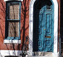 Blue Door-PhilaPA by DAVID  SWIFT