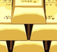 Stack of Gold Bars Sticker