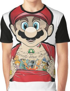 Mario's Got Ink Graphic T-Shirt