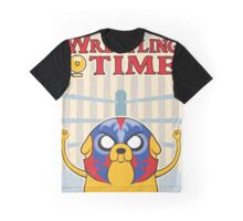 Wrestling Time Graphic T-Shirt