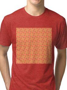 Floral pattern, beige background Tri-blend T-Shirt