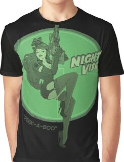 Night Vision Pin Up Graphic T-Shirt