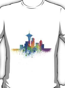 Seattle Skyline Graffiti II iPhone Case T-Shirt