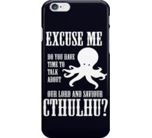 Our Lord And Saviour Cthulhu iPhone Case/Skin
