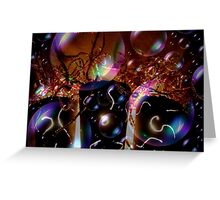 A Bubbly Happy New Year Abstract Greeting Card