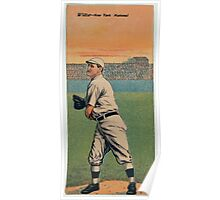 Benjamin K Edwards Collection George Wiltse Fred Merkle New York Giants baseball card portrait Poster