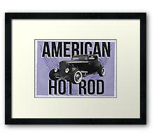 American Hot Rod - blue version Framed Print