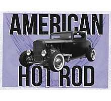 American Hot Rod - blue version Photographic Print