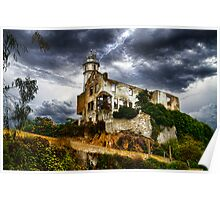 Alcatraz Storm, San Francisco Bay, California, USA Poster