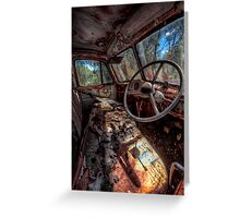 Deceased Timber Truck Greeting Card