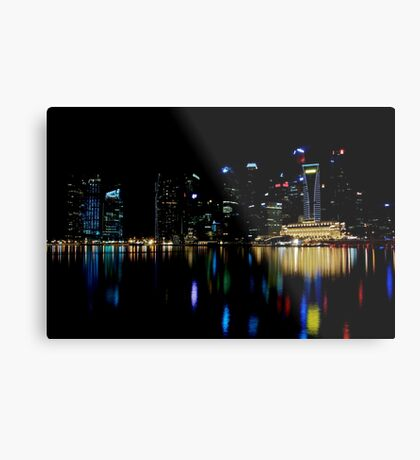 Colors of the Singapore Skyline Metal Print