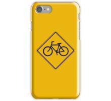 Bicycle Traffic, Traffic Warning Sign, USA iPhone Case/Skin