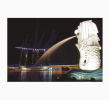The Singapore Merlion at Marina Bay Baby Tee