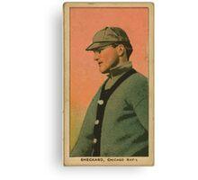Benjamin K Edwards Collection Jimmy Sheckard Chicago Cubs baseball card portrait Canvas Print
