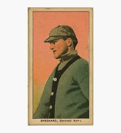Benjamin K Edwards Collection Jimmy Sheckard Chicago Cubs baseball card portrait Photographic Print