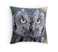 Western Screech-Owl Throw Pillow