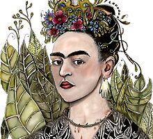 Frida Kahlo Self Portrait #2 (my version) by Jenny Wood