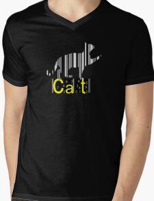 Barcode Cat  Mens V-Neck T-Shirt