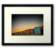 Beach Huts At Dovercourt Framed Print