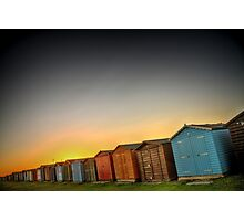 Beach Huts At Dovercourt Photographic Print