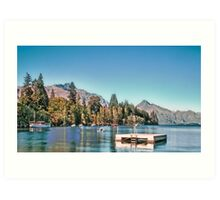 Lake Wakatipu, Queenstown, New Zealand Art Print