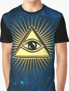Eye Of Providence - All Seeing Eye Of God - Symbol Omniscience Graphic T-Shirt