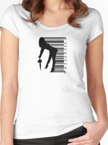 Barcode Sexy girl Women's Fitted Scoop T-Shirt