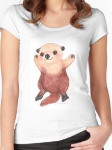 Otterly Awesome Otter Women's Fitted Scoop T-Shirt