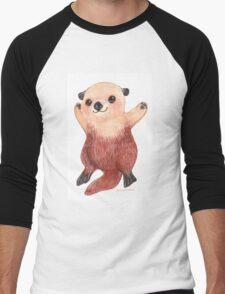 Otterly Awesome Otter Men's Baseball ¾ T-Shirt