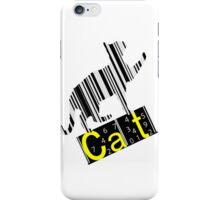 Barcode cat iPhone Case/Skin
