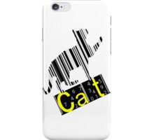 Barcode cat iPhone Case/Skin
