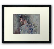 Cristiano Ronaldo - Portrait 1 Framed Print