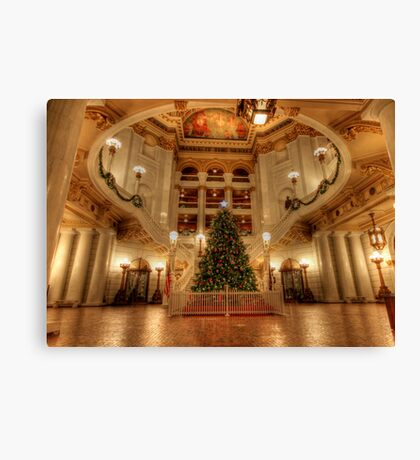Capital Christmas Canvas Print