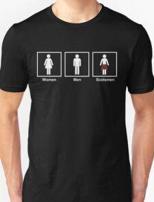 Women, Men, Scotsmen Funny Toilet Humor Design Unisex T-Shirt