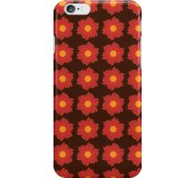 Floral pattern, brown background iPhone Case/Skin