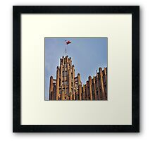 The Swanky Tower and Spire. Framed Print