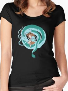 My Dragon Form Women's Fitted Scoop T-Shirt