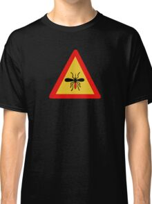 Beware of Mosquitoes, Traffic Sign, Finland Classic T-Shirt
