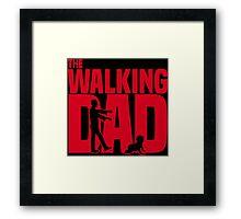 The walking dad Framed Print