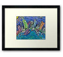 On The Hudson River Framed Print