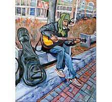 Guitar Man Photographic Print