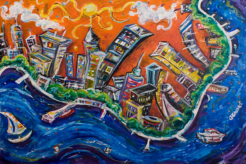 Burning City by Jason Gluskin