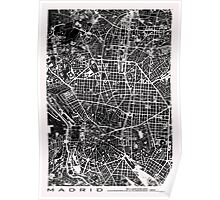 Madrid city map black&white Poster