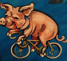 Pig on a Bicycle by Ellen Marcus