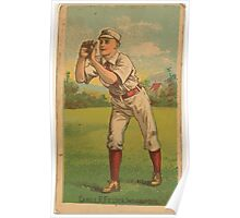 Benjamin K Edwards Collection John Cahill Indianapolis Hoosiers baseball card portrait Poster